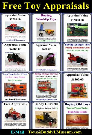 Buddy L Ice Truck Information and Value. Buying Buddy L Toys Buddy L Museum buying vintage toys, buying antique toys any condition. Free Toy Appraisal, Vintage Toy Appraisals. Buddy L Coal Truck For Sale Buddy L Baggage Truck For Sale Buddy L Ice Truck Value