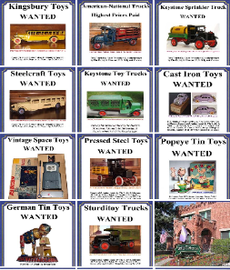Buying Vintge Pressed Steel Toys including Kingsbury, Keystone, Sturditoy, Buddy L, Steelcrfaft and more. Free confidential Kingsbury Toy Appraisal